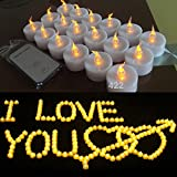 Backto20s Flameless LED Tealight Candles with Remote Control , 180 - Pack