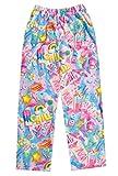 iscream Big Girls Fun Print Silky Soft Plush Pants - Chill, X-Small