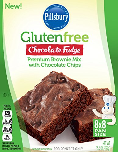 (Pillsbury Gluten Free Chocolate Fudge Premium Brownie Mix with Chocolate Chips, 15.5 oz)