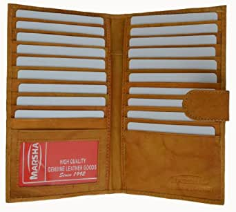 Marshal Genuine Leather Bi-fold Card Holder #1629CF Tan