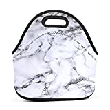 Smoke-Filled Painting Women Lunch Bag Multi-Purpose Food Container Lunch Box Portable Zipper Bag Handbag for Outdoor