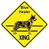 KC Creations Blue Heeler Xing Caution Crossing Sign Dog Gift