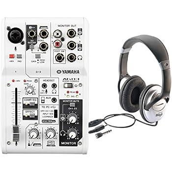 yamaha ag03 3 input usb audio interface mixer w headphones musical instruments. Black Bedroom Furniture Sets. Home Design Ideas