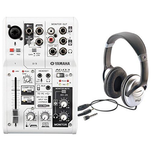 Yamaha AG03 3-Input USB Audio Interface Mixer w/ -