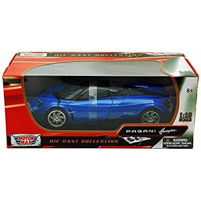 Pagani Huayra, Blue - Motormax 79160 - 1/18 Scale Diecast Model Car: Home & Kitchen