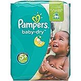 Pampers Baby Dry  - Pañales para bebés, Talla 5+ (13-27kg), 132 unidades