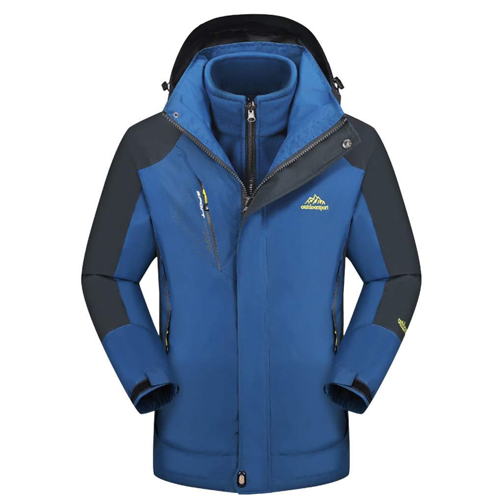 Erwachsene Warm 3 in 1 Jacke wasserdichtes Jacke Triclimate herausnehmbare Innenjacke Mountain Ski-Mantel für Herbst-Winter-Wandern Wandern