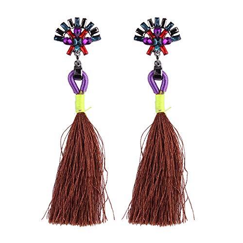 Boho Tassel Long Earrings for Women Statement Jewelry 13 Colors Wedding Dangle Drop Earrings for $<!--$15.88-->
