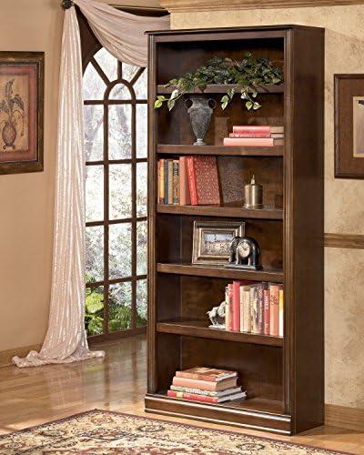 Ashley Furniture Hamlyn 6 Shelf Bookcase in Medium Brown