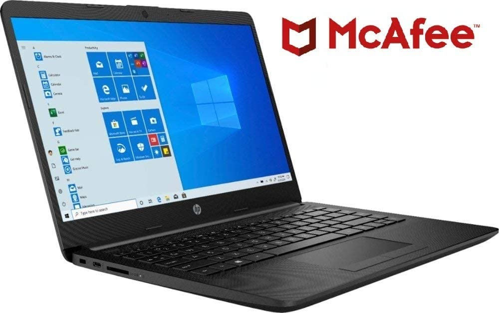 "2020_HP 14 14.0"" WLED-Backlit Display Laptop, AMD Athlon Silver 3050U Up to 3.2GHz (Beats i5-7200U), 4GB DDR4 RAM, 128GB SSD, 802.11AC WiFi+ Bluetooth 4.2, HDMI, Black, Windows 10, 1-Year McAfee"