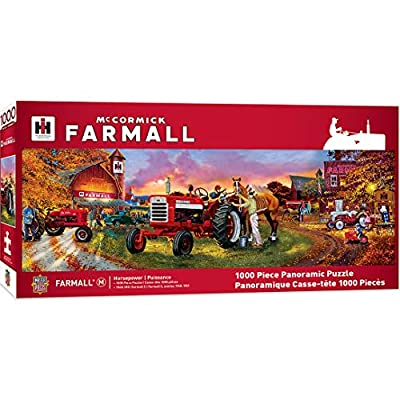MasterPieces Farmall Horse Power Panoramic 1000pc Puzzle: Toys & Games