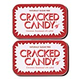Cinnamon Cracked Candy (Twin Pack) Sugar free xylitol candy. Vegan, diabetic friendly, NON GMO.