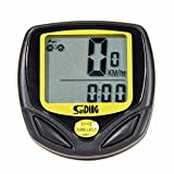 Wireless yellow Bicycle Cycling Bike Computer Speedometer Odometer Meter Bicycle Computer