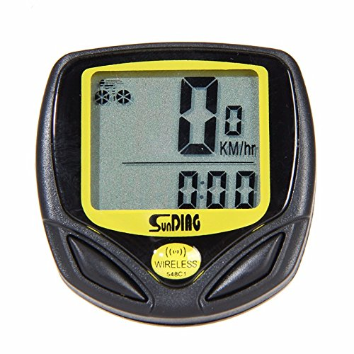Wireless yellow Bicycle Cycling Bike Computer Speedometer Odometer Meter Bicycle Computer by Taya