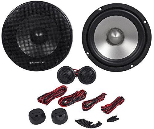 "Rockville RVL6KIT 6.5"" 800Watt/Pair Component Car Audio Speakers Aluminum Cone"