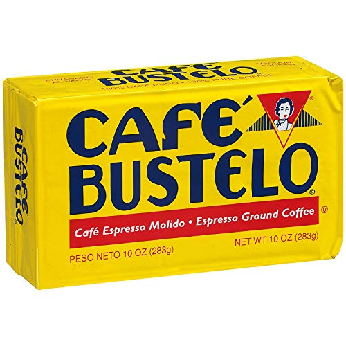 Cafe Bustelo Espresso Ground Coffee 10 oz Brick, Pack of 4