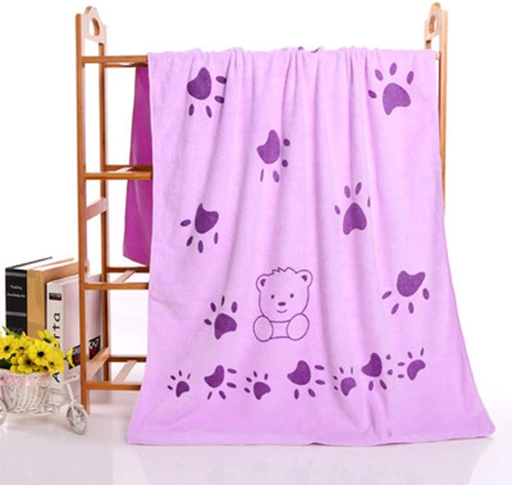 Beach Towel Leohome Dog Towel Absorbent Towel Suitable for Small and Medium Dogs Dog Bath Towel Yellow 55x28 inches Microfiber Drying Towels for Dog
