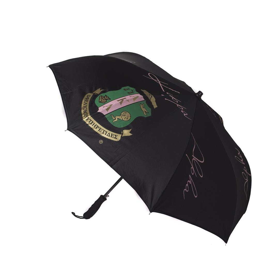 Alpha Kappa Alpha Black Inverted Crest Sorority Umbrella