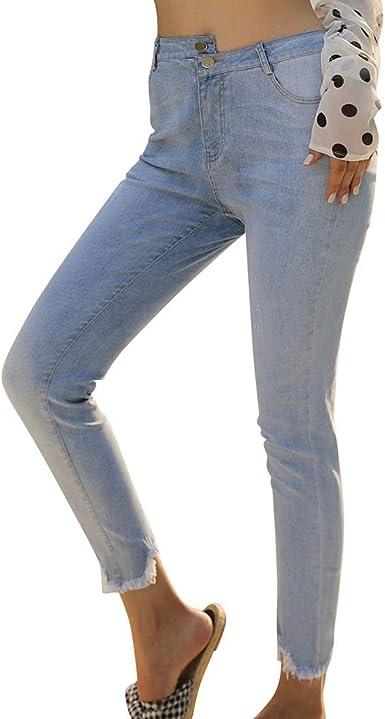 Amazon Com Skinny Jeans Ultra Stretch Pantalones De Vestir Casual Denim Pantalones Largos De Las Senoras Sueltos Pantalones De Moda Suave M Clothing