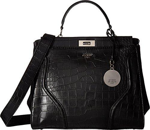 Image of GUESS Women's Georgie Satchel Black Handbag