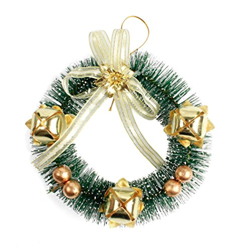 Hot Sale!!Woaills Holiday Gift Pendant,Christmas Tree Decoration Small Wreath Ornament Home Decor (Gold) ()