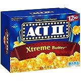 Act Ii Xtreme Butter Microwave Popcorn - 12 Bag Box 33.01 Oz