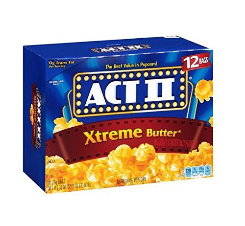 Act Ii Xtreme Butter Microwave Popcorn - 12 Bag Box 33.01 Oz by ACT II