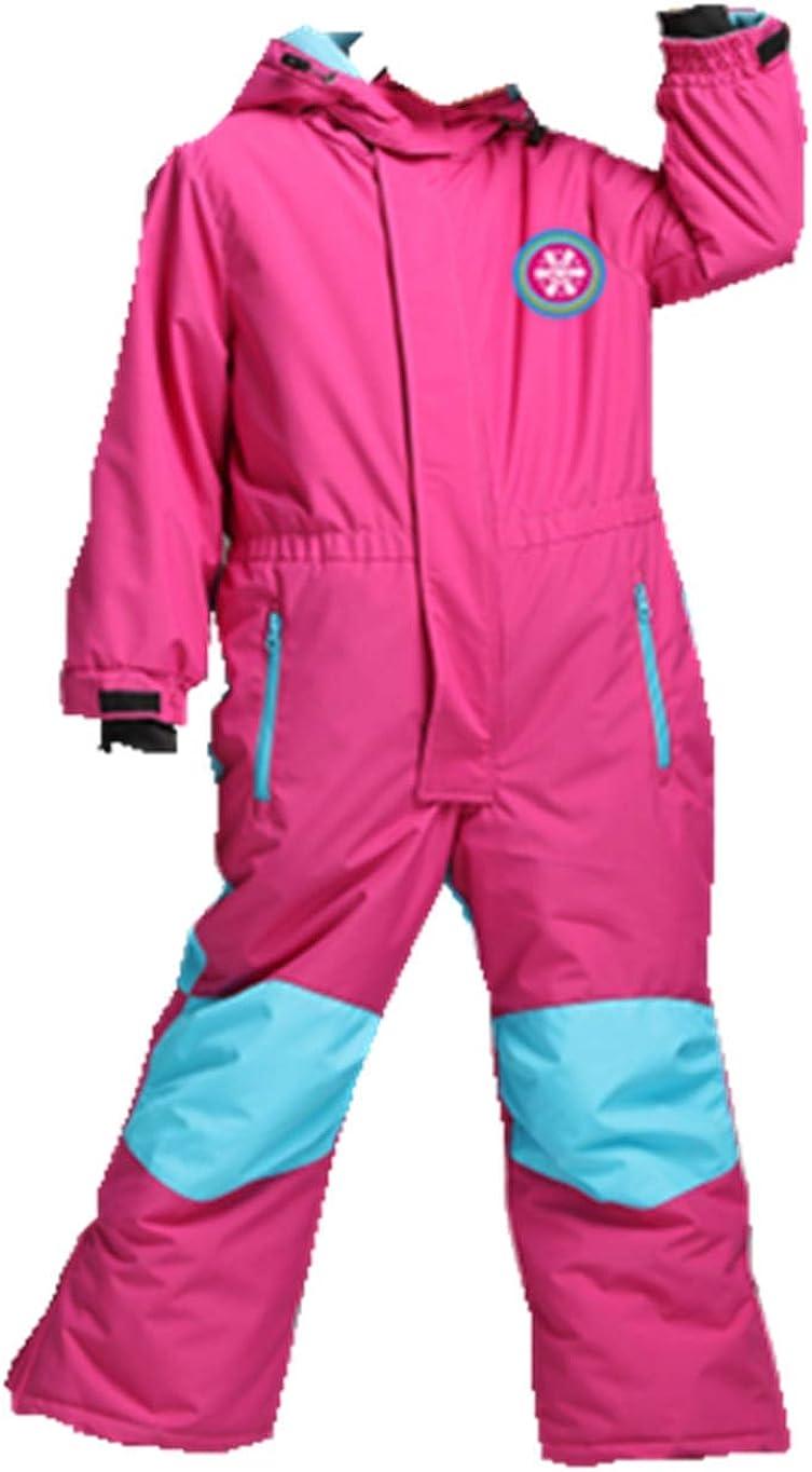 Genma0 One-Piece Snowsuit Waterproof Windproof Taslon Reflective for Kids