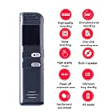 OMZBM Digital Audio Recording Device-Mini Voice Activated Recorder-8GB-110 Hours Capacity-OLED Display-Password Protection-Long Standby-Multifunction
