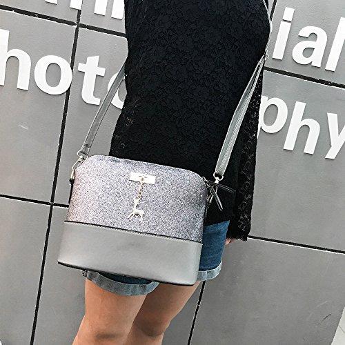 Messenger De Gris Petit Sac Femme À Main Coursier Crossbody Bandoulière Vintage sac Mini Sacs 1xzZqF