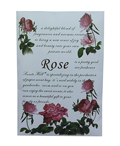 Feel Fragrance Scented Sachet for Drawer and Closet,Lot of 4 (Rose) by Scents Hill