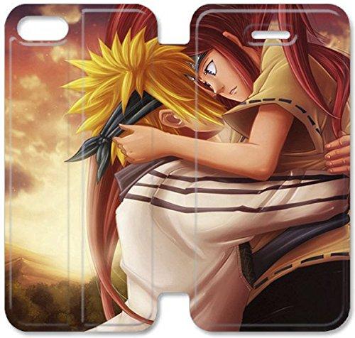 Flip étui en cuir PU Stand pour Coque iPhone 5 5S, 5 cas de téléphone cellulaire 5S Bricolage Naruto Shippuden R6O8FV Typo Coque iPhone couvertures de cuir