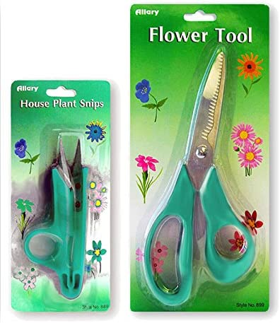 Pruning Tool Bundle Set of 2 , Flower Tool House Plant Snips Green