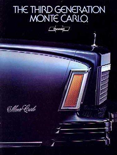 1978 Chevrolet Monte Carlo Sales Brochure Literature Advertisement Options
