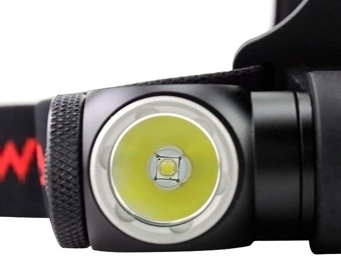 WOWTAC A2S L/ámpara LED de cabeza o para casco 5 modos m/áx supervivencia -NW equitaci/ón 18650 bater/ía incluida para camping 1050 l/úmenes resistente al agua seg/ún el est/ándar IPX-7