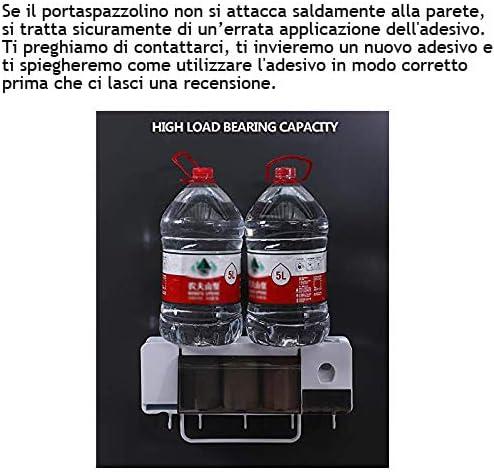 ChangMi Erogatore Automatico di Dentifricio da Muro e Portaspazzolino Anti-Polvere 4 Slot per Spazzolini e Porta Asciugamani Organizer per Spazzolini Salva-Spazio Multifunzionale con 3 Tazze