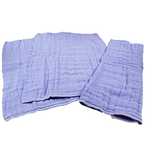 OsoCozy Dyed Prefolds (Burp Cloths) - 3 Pack - (Violet)