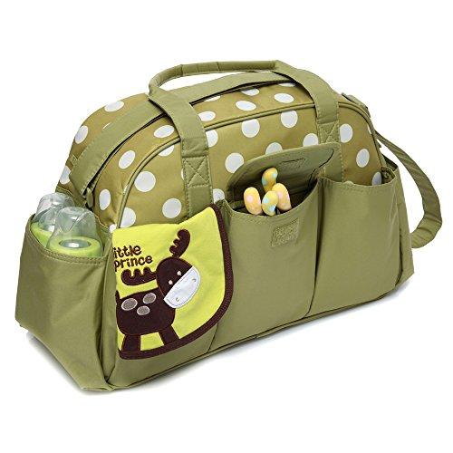 Pañales Bolso Cierre Clasificación Hobos mediano Bag Nailon Mengma Impermeable Para Cremallera 2 Con Messenger Bolsa Bebé Madres nbsp;colores De Lactancia Viaje Talla Verde UU6txn