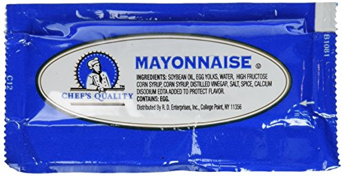 Chefs Quality: Mayonnaise Packets 200 Count