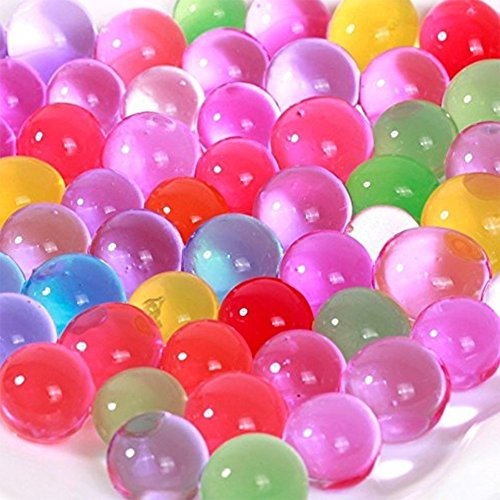 Doitsa Water Beads Sooper Beads Crystal Water Jelly Gel Bead Used For Kids Tactile Sensory Experience,Vase Filler, Soil, Plant decoration, Bamboo Plants (Rainbow Mix)(1000 Beads)