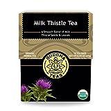 #5: Organic Milk Thistle Tea - Kosher, Caffeine Free, GMO-Free - 18 Bleach Free Tea Bags