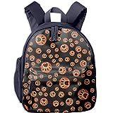 Cat And Dog Paw Printed Kids Backpack Toddler Waterproof School Bags for Kindergarten