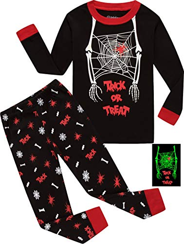 4dda335bd BebeBear Boys Pajamas Trick or Treat Kids Halloween Luminous Pyjamas ...