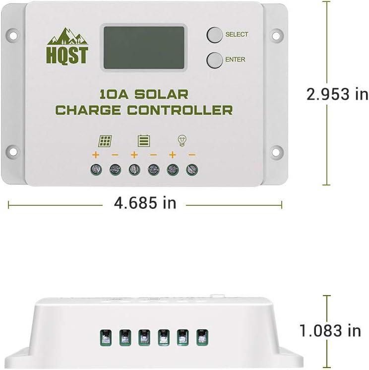 HQST 10 Amp 10A PWM 12V//24V Controller di Carica /con /LCD e USB Porte