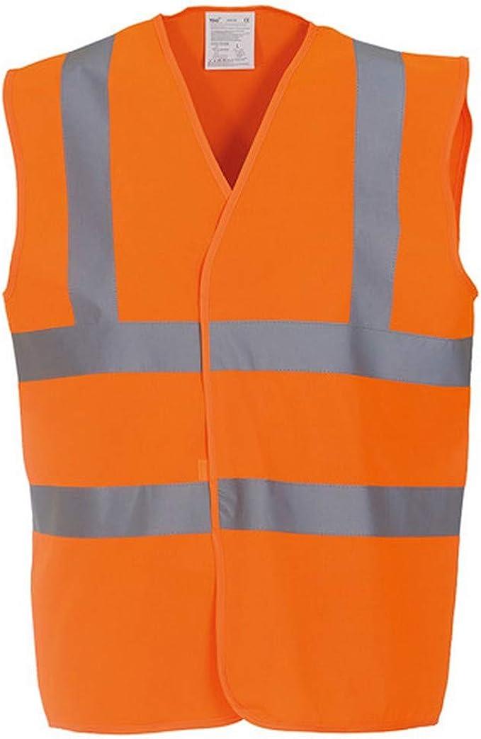 Unisex Long Sleeve Vest Safety Hi-Viz Fluorescent Reflective Waist Coat ISO20471