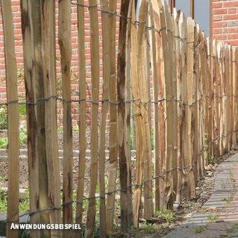 Videx-Staketenzaun Kastanie Normandie, 4-5cm Lattenabstand, 180 x 300cm