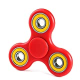 YAMQL Fidget Spinner Toy Si3N4 Hybrid Ceramic Bearing, Perfect For Kids & Adults, Best Stress Reducer Relieves EDC ADHD Anxiety and Boredom (Red-yellow)