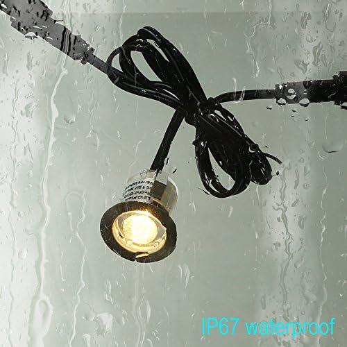 15 30 45 MM WARM OR COOL WHITE BLUE LED DECK LIGHTS KITCHEN BATHROOM GARDEN