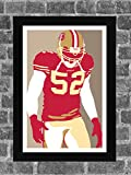 San Francisco 49ers Patrick Willis Portrait Sports Print Art 11x17