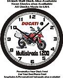 DUCATI MULTISTRADA 1200 MOTORCYCLE WALL CLOCK-FREE USA SHIP-Choose 1 of 2